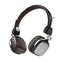 AudioMX Wireless / Wired Folding Stereo Headphones with V4.1 Bluetooth and Built-in HD Mic, Lightweight Headset