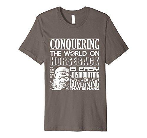 Men's Calvin Mira T Shirt xl Genghis Khan t shirt Conquering  Large Asphalt (Genghis Khan Costume)