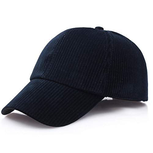 Quaanti Clearance Price!Unisex Couple Solid Color Corduroy Baseball Cap Adjustable Casual Hats  (A)