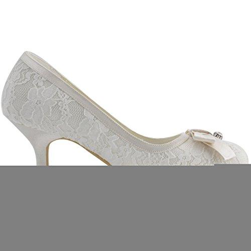 Tacco Bianco Donna Elegantpark bianco Col Scarpe qxEIS4U