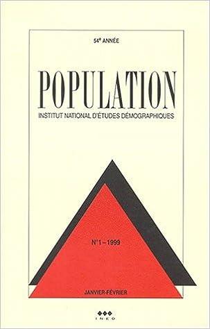 Téléchargement Population 1999. n.1 janvier-février pdf ebook