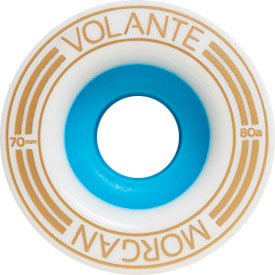 Volante Morgan 1mm Off-Set 70mm 80a White/Blue Wheels (Set Of 4) by Volante   B00BI07AT0