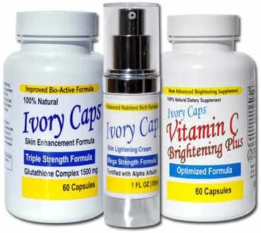 Skin Whitening Lightening System 1, IvoryCaps , Ivory caps , Skin Whitening Pills , Skin Lightening Cream , Vitamin C 100% Natural , No Side Affects