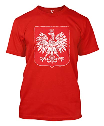 Poland Coat of Arms - Eagle Polska Men's T-Shirt (Red, X-Large) ()