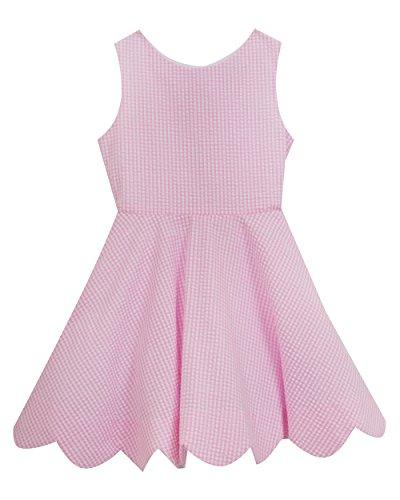 Rare Editions Little Girls' Seersucker Casual Dress, Pink/Ivory, (Pink Seersucker Dress)