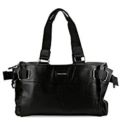 Oct17 Black Fashion Women Handbag Shoulder Bags Tote Purse Faux Leather Lady Messenger Hobo Bag
