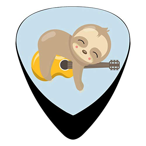 Pimalico Classic Sloth Sleeping On Guitar Design Picks (12 Pack,) for Electric Guitar, Acoustic Guitar, Mandolin, and -