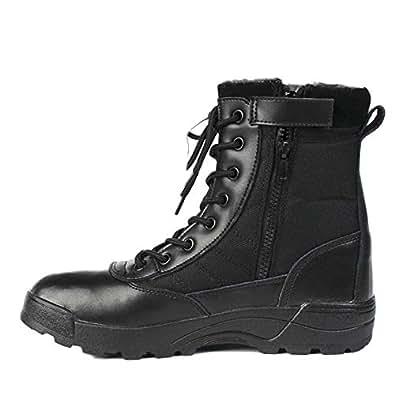 Amazon.com | Men Boots Winter Tactical Boots Martin