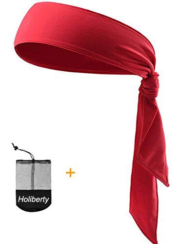 Quickly Dry Sports Headband for Women Men,Moisture Wicking Sweat Hair Band Stretch Sweatband Head Tie Scarf Wrap Bandana for Tennis Running Workout Yoga Gym Cycling Fitness Under Helmet Liner Headwear]()