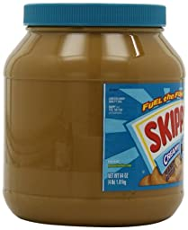 Skippy Creamy Peanut Butter, 64 Ounce Bottles (Pack of 2)