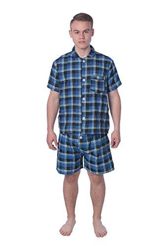 James Fiallo Mens Pajamas Set, 100% Cotton, Comfortable, Non Sweating, All Seasons, Winter, Spring, Fall, Summer.