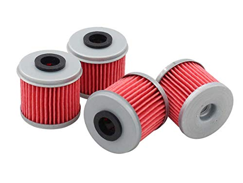 (Pack of 4 Oil Filter for Honda TRX450ER TRX450R ATV CRF250R CRF250X CRF450R CRF450X CRF150R CRF150RB Husqvarna TC250 TE250 TXC250 TE310)