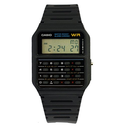 Casio Men's Twincept Databank Ani-Digi Resin Watch Black CA-53W-1Z