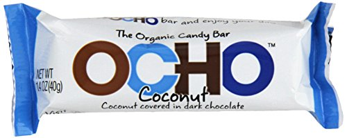 OCHO Candy Organic Candy Bar, Coconut, 1.4 Ounce (Pack of 18) (Ocho Chocolate)