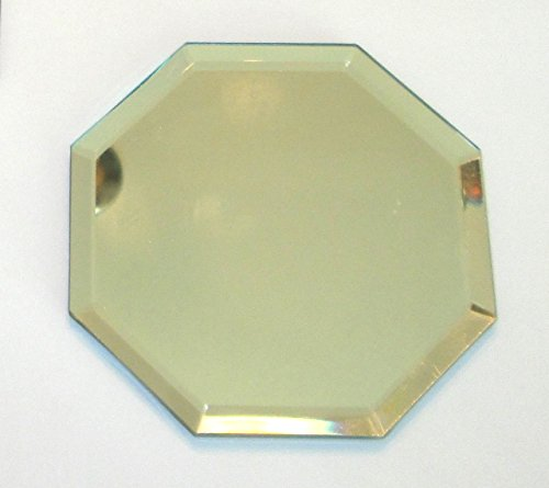 Odyssey Online Beveled Mirror, 4 Inch Octagon, Glass Coaster with Pads on Back