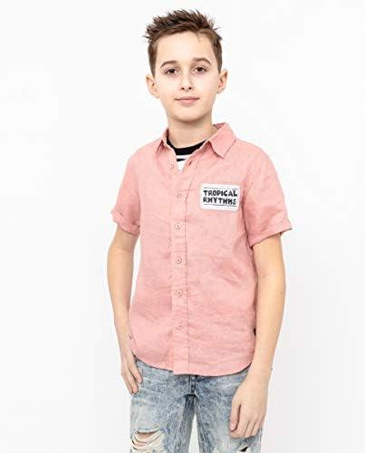 GULLIVER Camisa para niño o niño, color rosa, manga corta, 8 ...