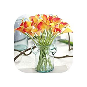 6 Pc Artificial Touch Calla Lily Fake Wedding Home Decor Bouquet Artificial Wedding Flowers Wholesale A65 100