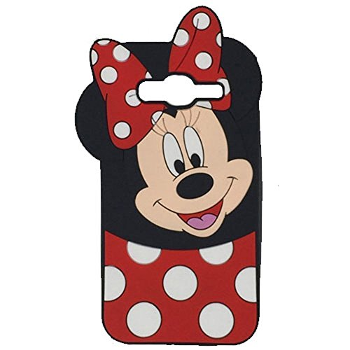 On5 2016 Silicone Case,Bat King Cute Cartoon Mouse Sit Soft Silicon Gel Rubber Case Cover Skin for Samsung Galaxy J5 Prime/On5 2016(Smile Minnie) ()