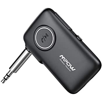 Mpow BH298A Bluetooth Receiver, Bluetooth Audio Adapter with Bluetooth 5.0 for Music Streaming, Wireless Bluetooth Receiver with Handsfree Calls, Siri Google Assistant, for Car/Home Stereo System