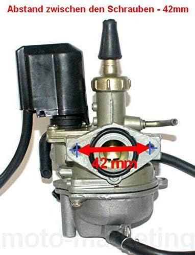 Unbranded Sport VERGASER 17,5mm E-Choke f/ür Honda AF32 AF 32 37 49 LUFTGEK/ÜHLT 50
