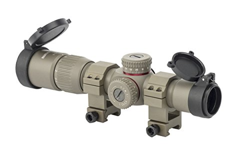 Illuminated Felt - Monstrum Tactical G2 1-4x24 First Focal Plane (FFP) Rifle Scope with Illuminated BDC Reticle (Flat Dark Earth/Flat Dark Earth Rings)