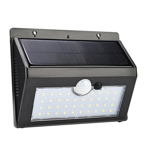 38 LED Solar Power PIR Motion Sensor Waterproof Wall Light For Garden Step Stair Deck by Sonmer