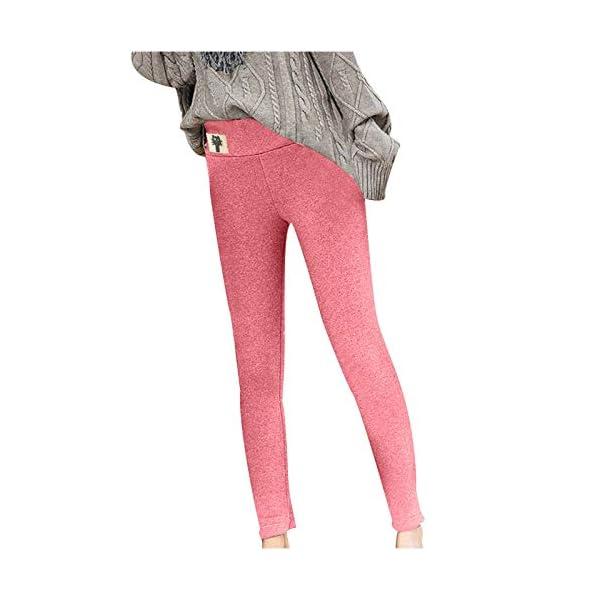 Legging Doublé Polaire Femme Hiver Super épais Chaud en Velours Extensible Pantalon Collant Legging Femme Grande Taille…