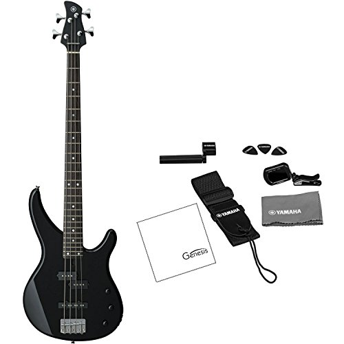 Yamaha TRBX174 BL Electric Bass Guitar Black (FREE Tuner, Strap, Guitar Picks, String Winder, and Polishing Cloth) by Yamaha Genesis