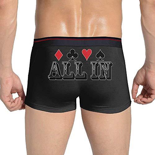 OutdoorMatter Poker All in Gambler Lovers Men's Breathable Boxer Brief Underwear Cotton (Poker Boxers)