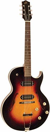 Es 175 Semi (The Loar LH-302T-CVS Dual P-90 Thinbody Cutaway Electric Guitar, Vintage Sunburst)