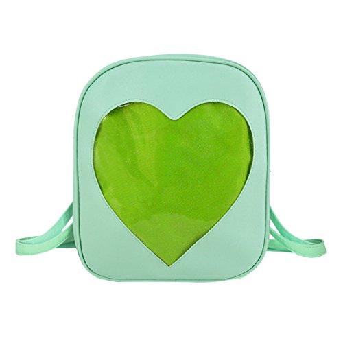 Heidi Bag Clear Candy Backpacks Teenager Ita Bag Transparent Love Heart School Bags Girls Kids Satchel by Heidi Bag (Image #1)