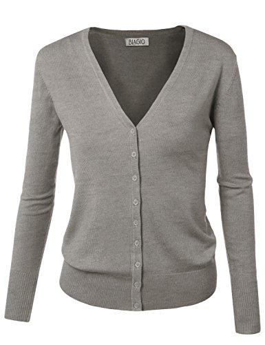 Grey Cardigan Sweater - 6