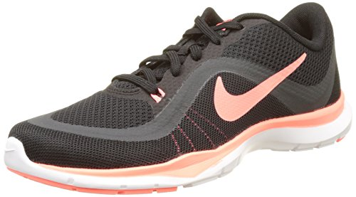 NIKE Women's Flex Trainer 6 Black/Lava Glow/Anthracite Running Shoe 7.5 Women US