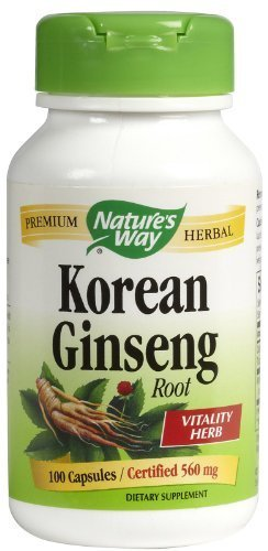Nature's Way Korean Ginseng Root, 100 caps (Pack of 2) by NATURE'S ()