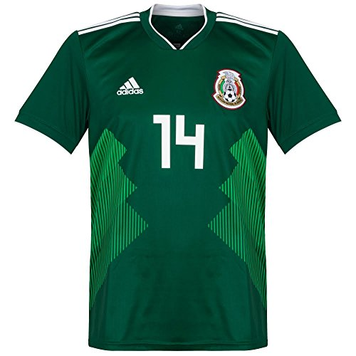 Mexico Home Chicharito Jersey 2018 / 2019 (Official Printing) - S by Adidas