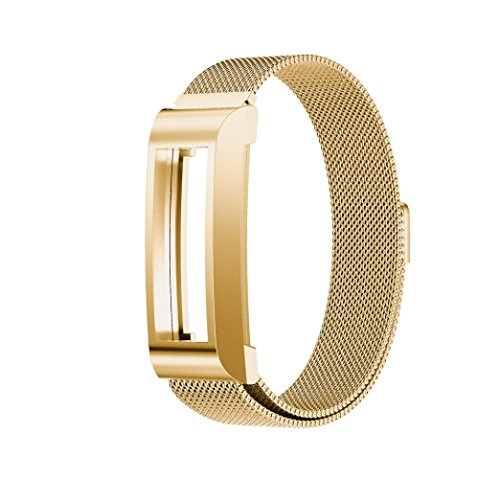 For Fitbit Alta HR Smart Watch ,Outsta Stainless Steel Watch Band Wrist strap Gold