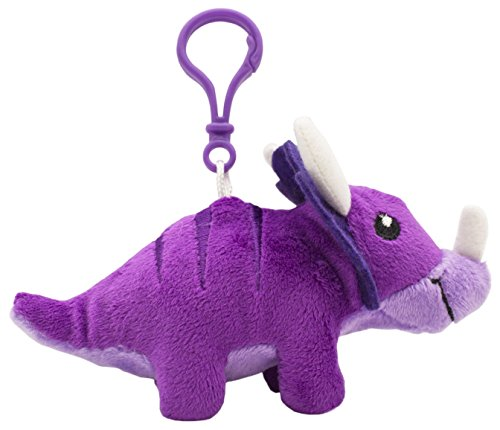 (Scentco Dino Dudes Backpack Buddies - Scented Plush Toy Dinosaur Clips - Grape Triceratops)