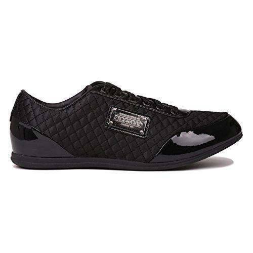 Firetrap DR Domello Cuir décontracté Baskets pour homme BLK Baskets mode Sneakers