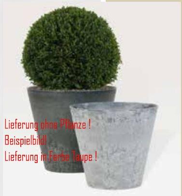Blumenübertopf Artstone Clair Pot aus Kunststoff, sonnen-und regenbeständig für Innen und Außen, Farbe Taupe, Ø 47cm Höhe 47cm