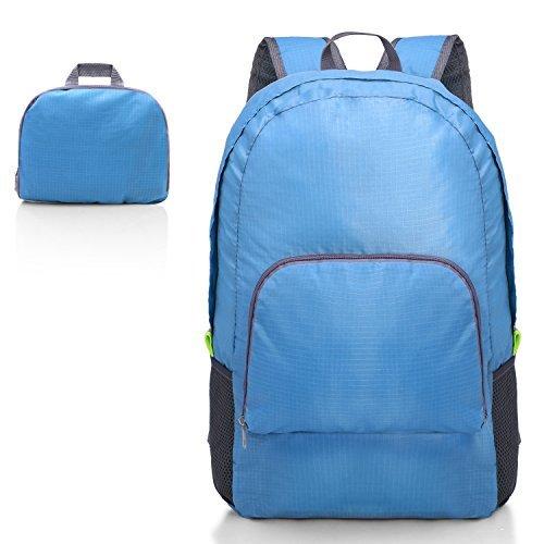 Kitdine Ultra Lightweight Packable Backpack Foldable Durable Travel Hiking Backpack Daypack for Women/Men(Blue) Load 20L