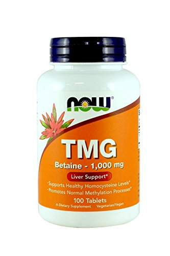 NOW TMG 1000mg, 100 Tablets (Pack of 2)