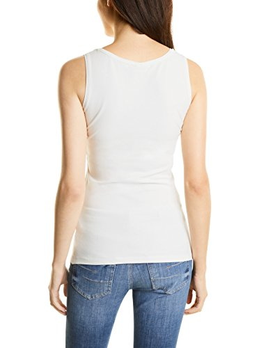 Street One Qr Bethy, Tank Top para Mujer Weiß (Off White 10108)