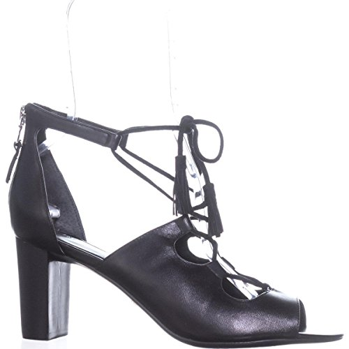 Lauren by Ralph Lauren Womens Hasel Leather Open Toe Casual Strappy Sandals Black Z4zPlTWNw