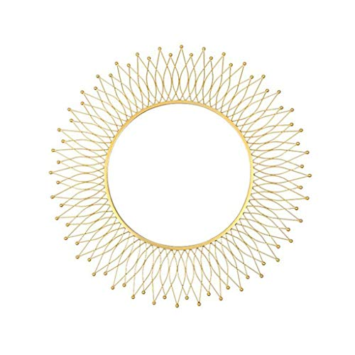 YYHSND Decorative Mirror American Round Golden Sunglasses Porch Living Room Fireplace Dining Cabinet Background Wall Mirror Decoration Wall Mirror ()