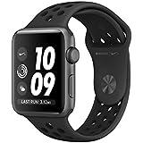 Apple Watch Nike+, 42 mm, Aluminiumgehäuse spacegrau, Sportarmband schwarz