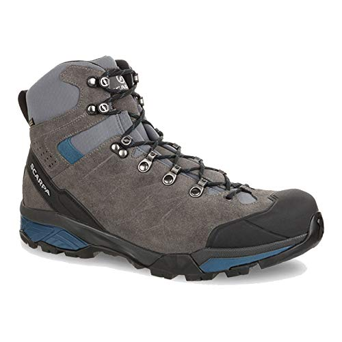 Boot Backpacking Mid Gtx (SCARPA Men's ZG Trek GTX Backpacking Boot Titanium/Lake Blue - 42)