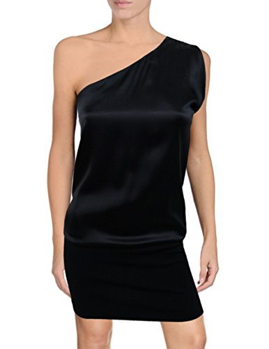 Theory Sharin One Shoulder Mini Dress, Black ()