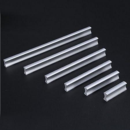 Tirador SupmeetTM de aluminio para muebles de cocina, cajones, armarios, incluye tornillos 32 mm Negro