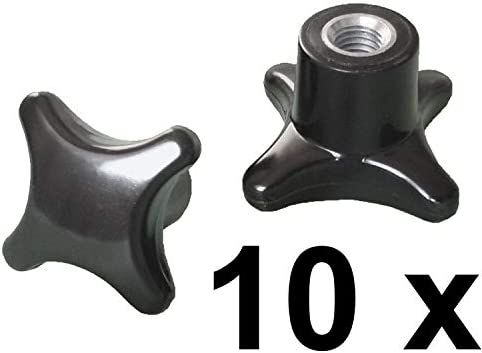 10 St/ück Kreuzgriffmutter M5 DIN 6335 Kreuzmutter Stahlgewinde