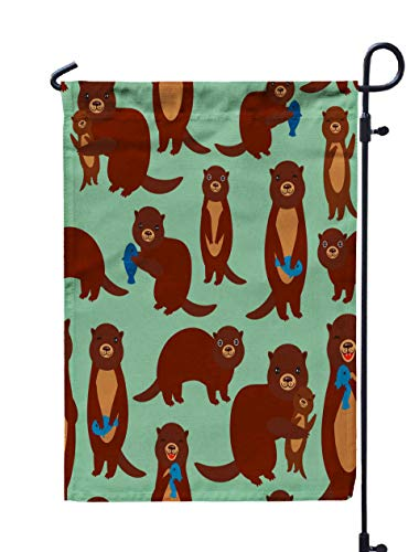 Shorping Welcome Garden Flag, 12x18Inch Pattern Funny Brown